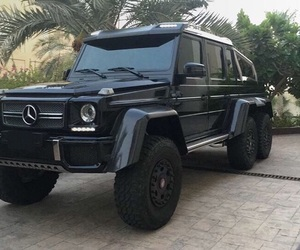 6x6, benz, and black image