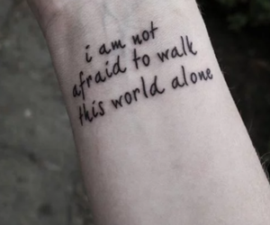 tattoo, alone, and quotes image