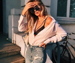 blonde, clothes, and style image