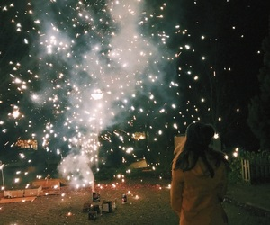 aesthetic, fashion, and fireworks image