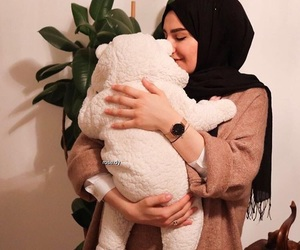 baby, family, and hijab image