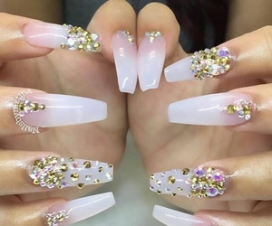 diamond, nails, and pretty image