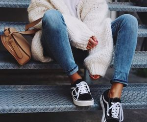 fashion, style, and white sweater image