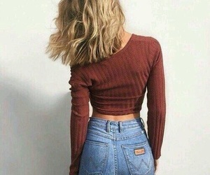 blond, girly, and jeans image