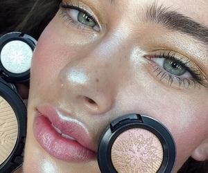 blue, blush, and eyeshadow image