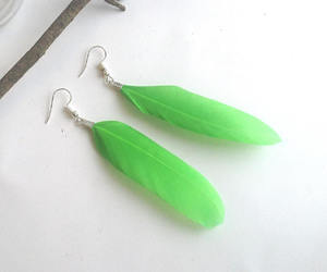 etsy, bright green, and st patricks earrings image