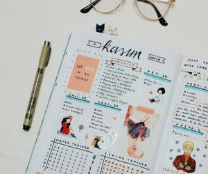 journaling, bullet journal, and notebook image