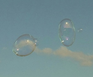 sky, blue, and bubbles image