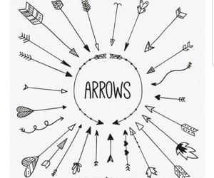 arrows, bullet journal, and doodle image