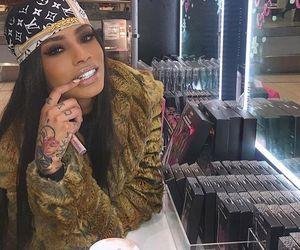 girl, Louis Vuitton, and makeup image