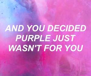 breakup, purple, and love image