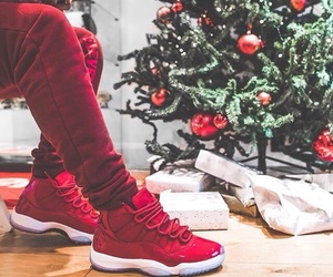 christmas, red, and jordan 11 image