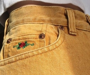 fashion, flower, and jeans image