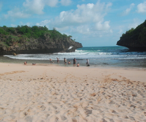 beach, beautiful, and indonesia image