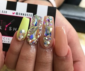 acrylics, nails, and pretty image