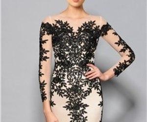 black, vestido, and white image