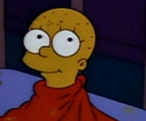 bald, lisa, and mood image