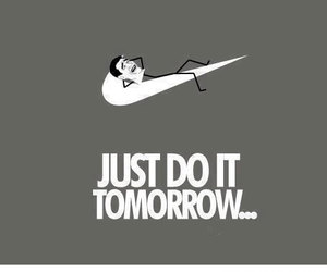 funny, nike, and Just Do It image