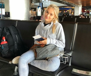 airport, fly, and girl image