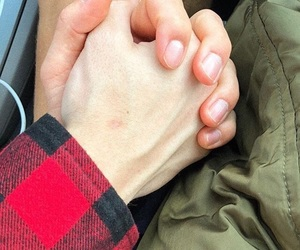 couple, gay, and hands image