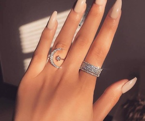 nails, diamond, and jewelry image