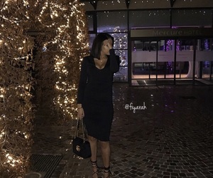 outfit clothes, all black noir, and ootd tenue image