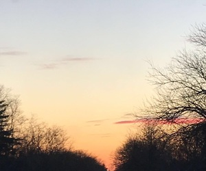 background, blue, and sunset image