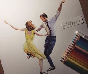 dance, drawing, and emma stone image