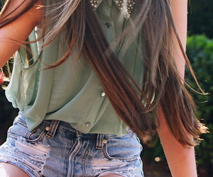 fashion, green, and longhair image
