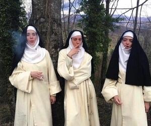smoke, nun, and cigarette image