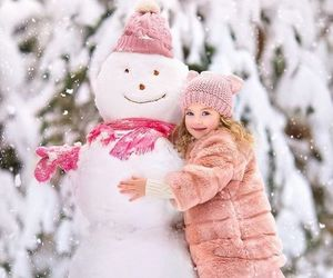 adorable, lovely, and snow image