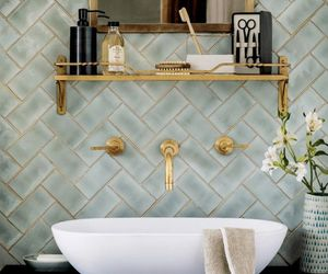 bathroom, interior, and gold image