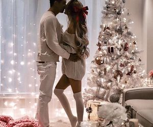 christmas, couple, and love image