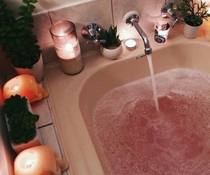 bath, comfy, and bathroom image