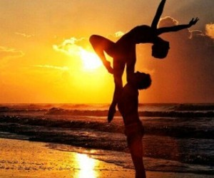 dance, beach, and couple image