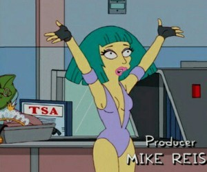 Lady gaga and The Simpson image