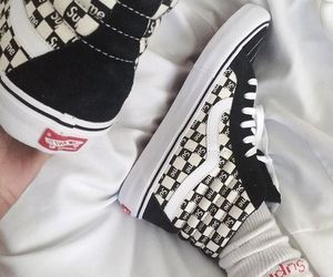 supreme, vans, and black image