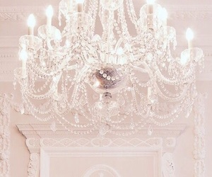 white, beautiful, and chandelier image