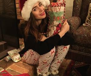 christmas, happines, and lily collins image