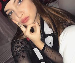 rose, Tattoos, and selfie image