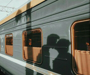 train, love, and couple image