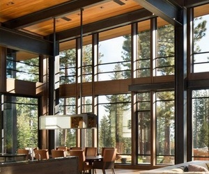 forest, house, and windows image