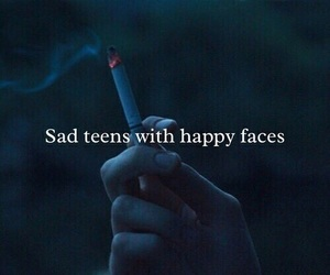 sad, teens, and smoke image