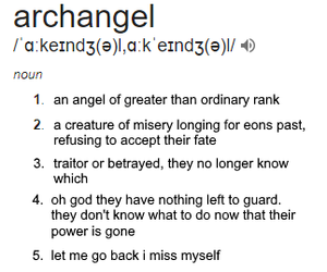 text, archangel, and otherkin image
