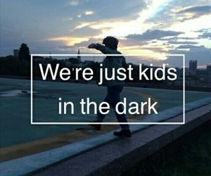 dark, grunge, and kids image