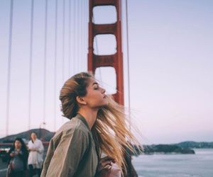 hair, travel, and blonde image