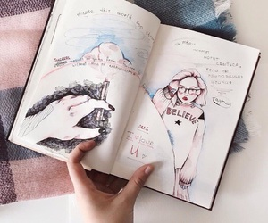 diary, draw, and sketchbook image