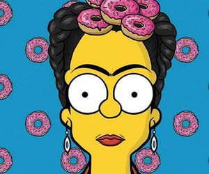 simpsons and Frida image