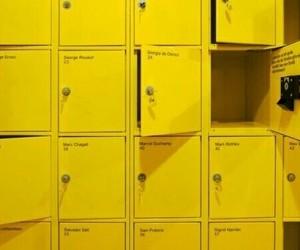 yellow, aesthetic, and locker image