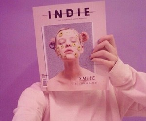 pink, indie, and grunge image